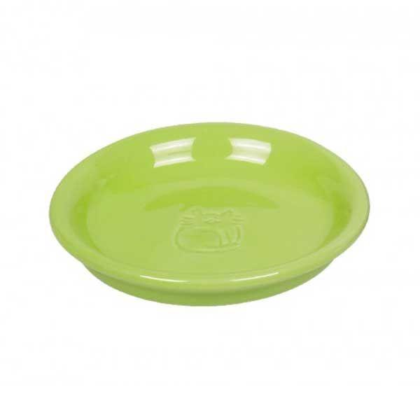 Nobby | Katzen Keramik Milchschale hellgrün
