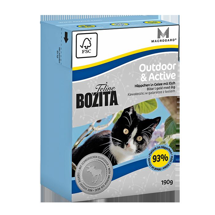 Bozita   Feline Outdoor & Active - Häppchen in Gelee mit Elch