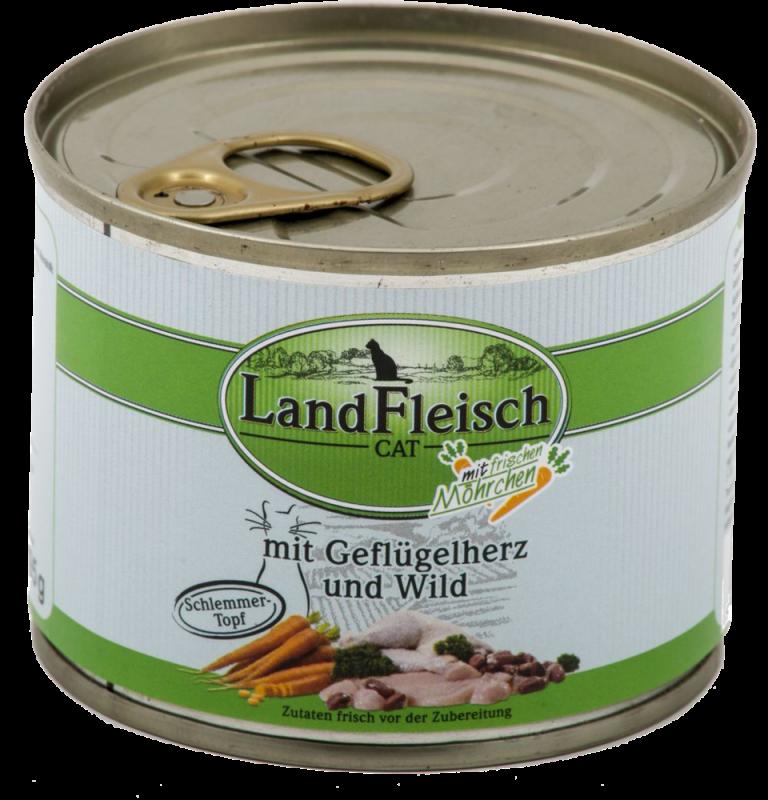 LandFleisch | Schlemmertopf Geflügelherzen & Wild