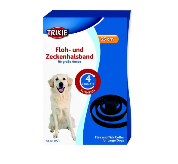 Trixie   Floh und Zeckenband, große Hunde, schwarz