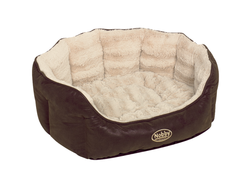 Nobby | Komfort Bett oval NATAL braun/beige
