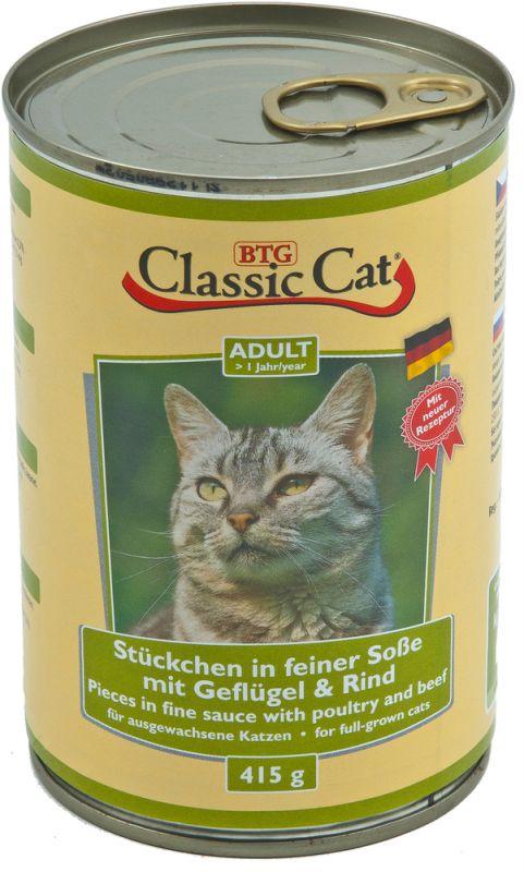 Classic Cat   Stückchen in feiner Soße mit Geflügel & Rind