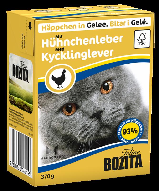 Bozita | Feline Häppchen in Gelee mit Hühnchenleber