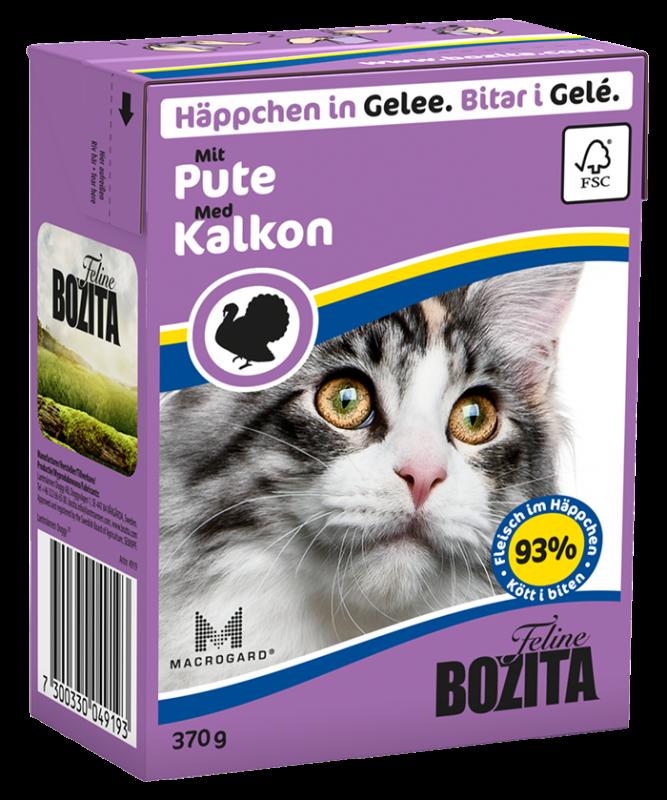 Bozita   Feline Häppchen in Gelee mit Pute