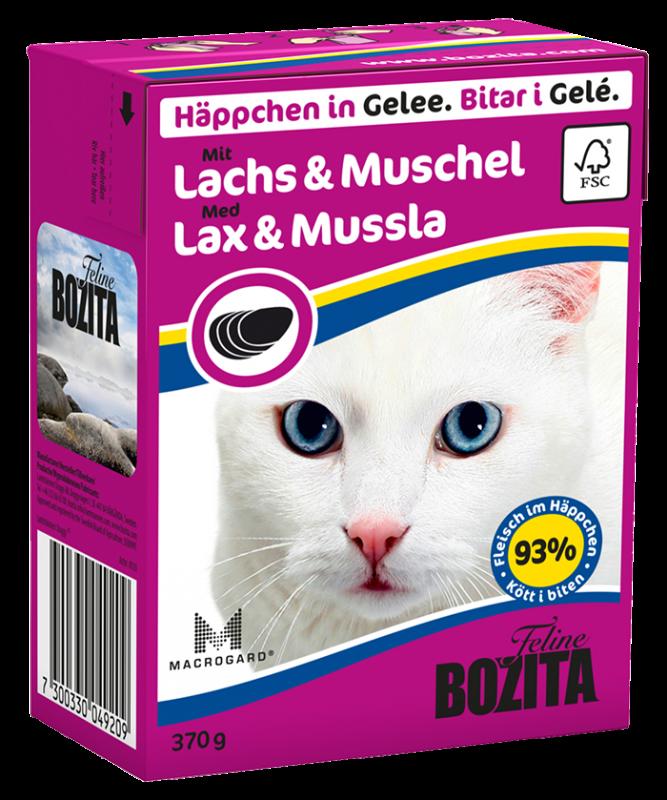 Bozita | Feline Häppchen in Gelee mit Lachs & Muschel