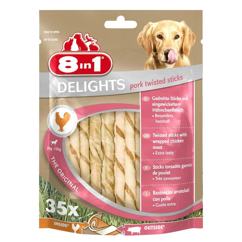 8in1 | Delights Pork Twisted Sticks
