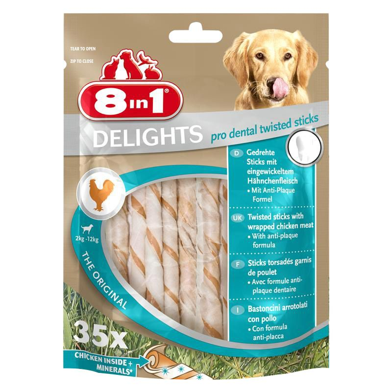 8in1 | Delights Pro Dental Twisted Sticks