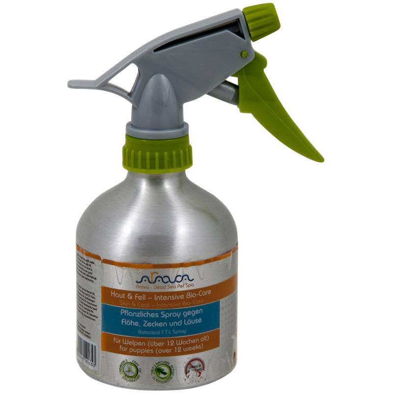 Arava | Pflanzliches Spray gegen Flöhe, Zecken und Läuse für Welpen
