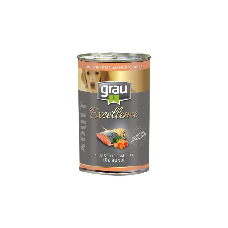 grau | Excellence Adult Lachs mit Pastinaken & Karotten