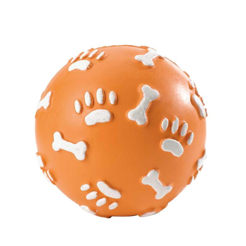 Hunter | Vollgummiball Pfote orange