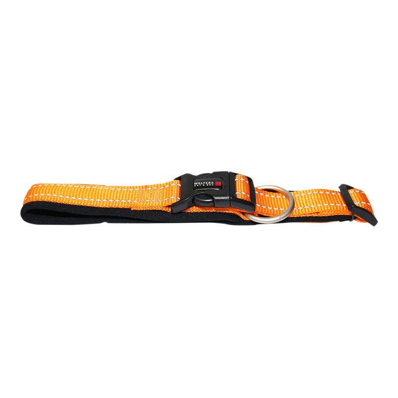 Wolters   Halsband Soft & Safe reflektierend orange/schwarz