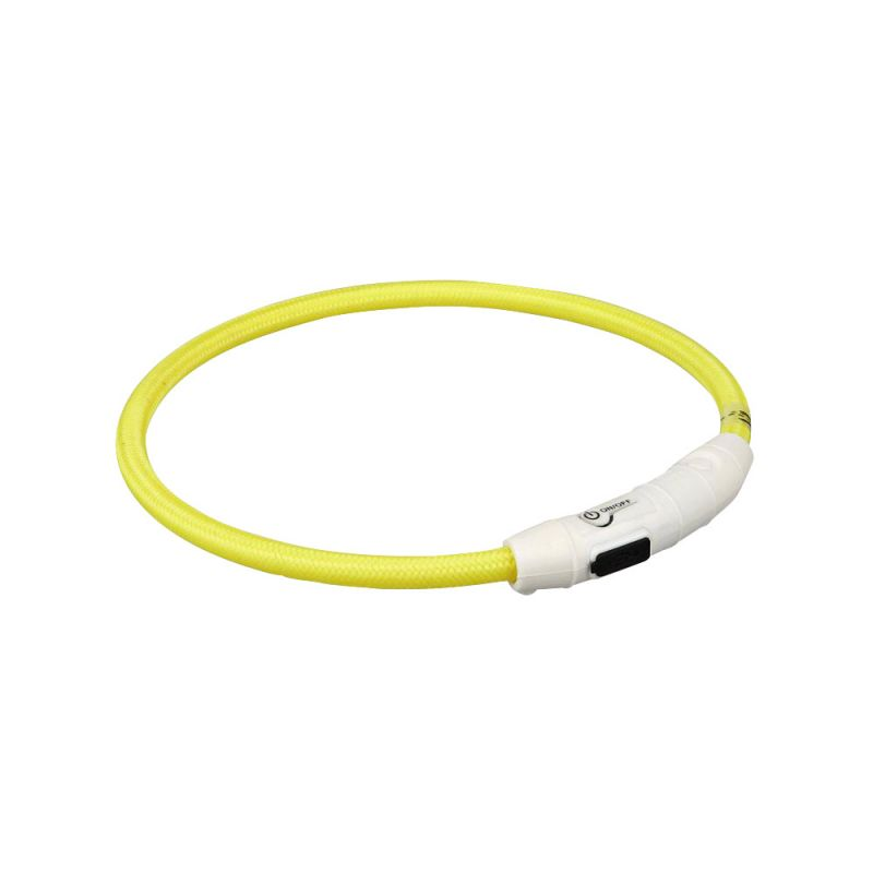 Trixie | Flash Leuchtring USB gelb