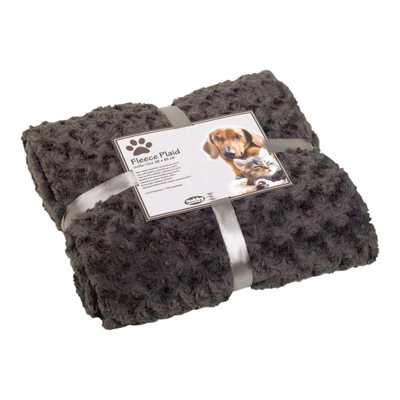 Nobby | Fleece Plaid SUPER SOFT grau S 60 x 85 cm grau