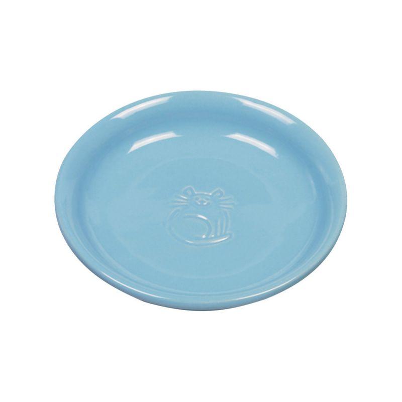 Nobby   Katzen Keramik Milchschale hellblau