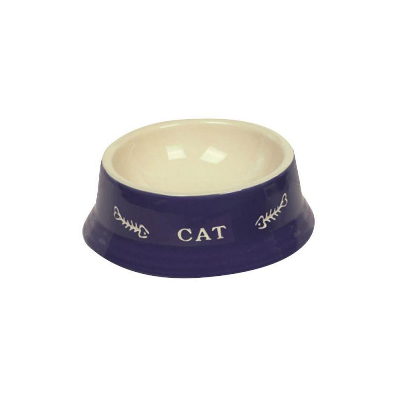 Nobby   Katzen Keramiknapf CAT blau/ beige