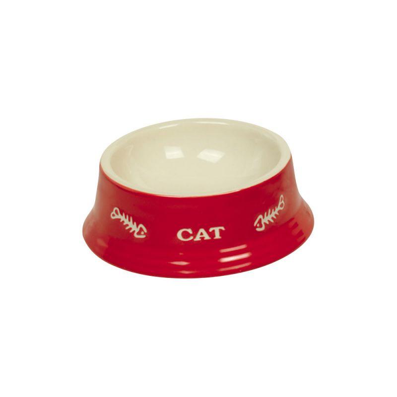 Nobby | Katzen Keramiknapf CAT rot / beige