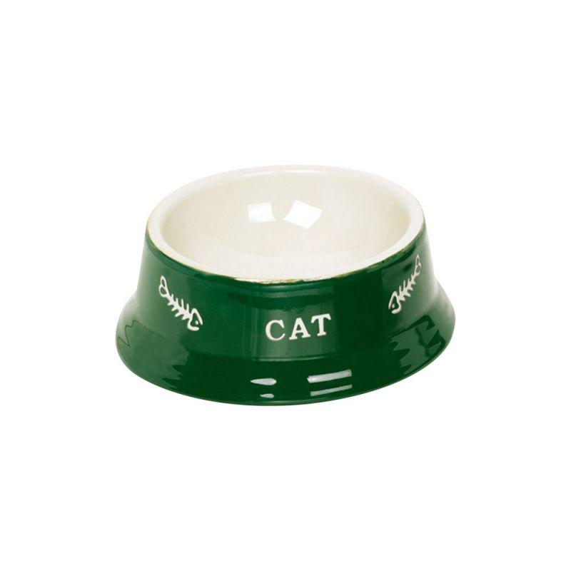Nobby | Katzen Keramiknapf CAT grün / beige