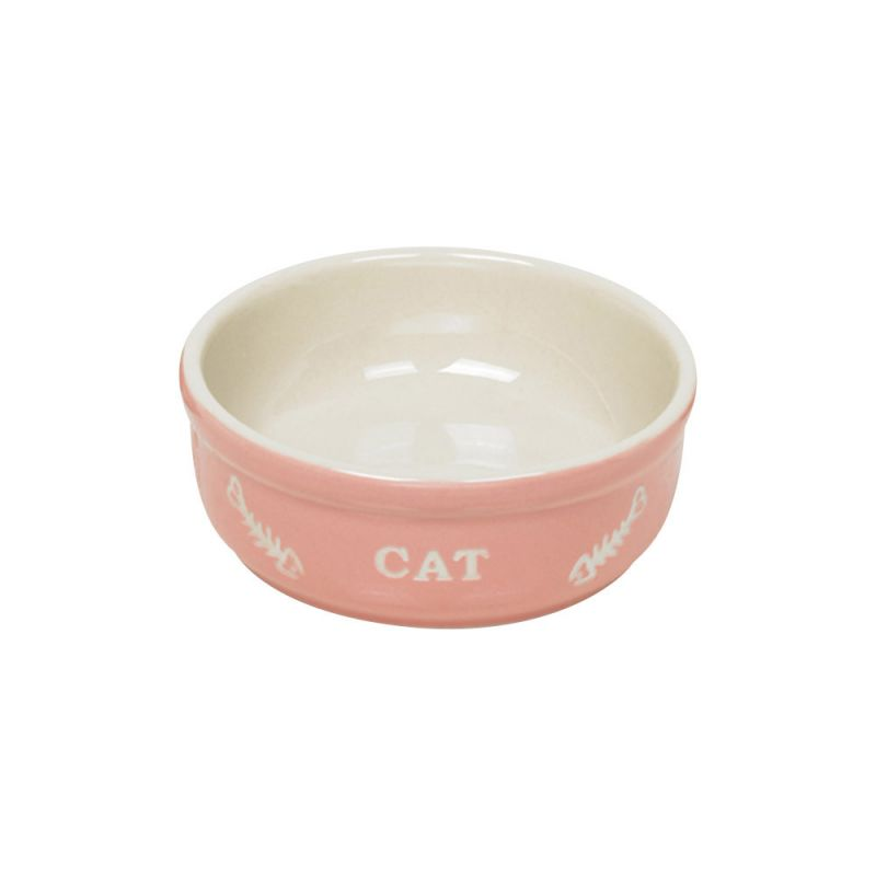 Nobby | Katzen Keramikschale CAT rosa / beige