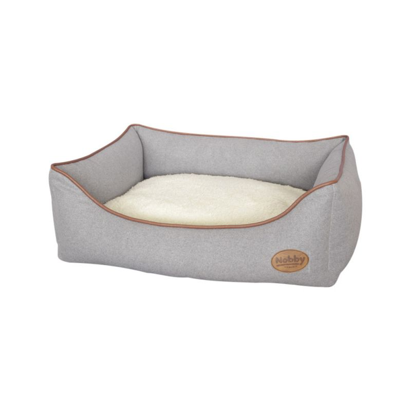 Nobby | Komfort Bett eckig GERO hellgrau