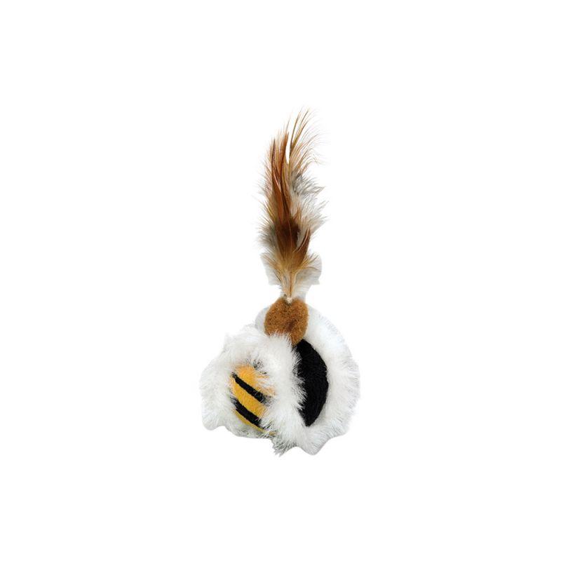 Nobby | Plüsch Ball mit Federn, mit Catnip