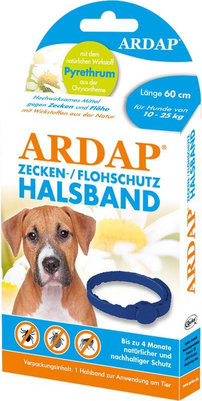 Ardap | Zecken- und Flohschutzhalsband für mittlere Hunde bis 25kg