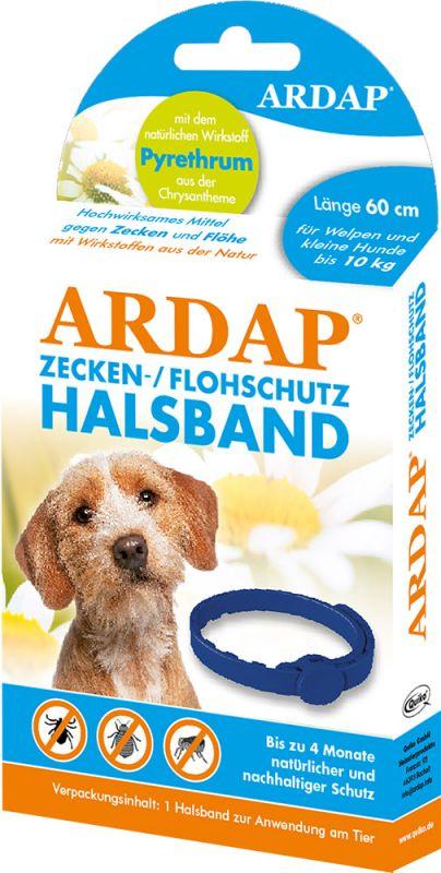 Ardap |  Zecken- und Flohschutzhalsband für Welpen und kleine Hunde bis 10kg
