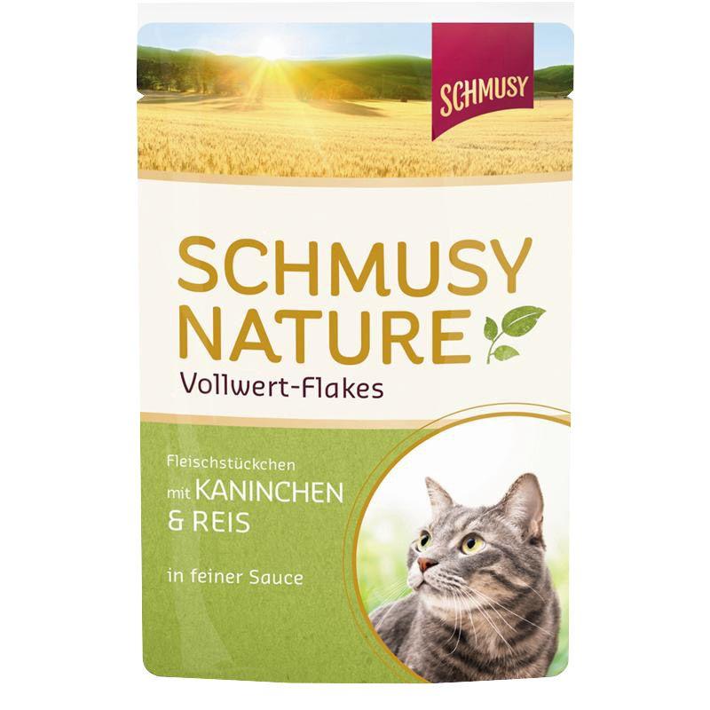 Schmusy | Nature Vollwert-Flakes mit Kaninchen & Reis