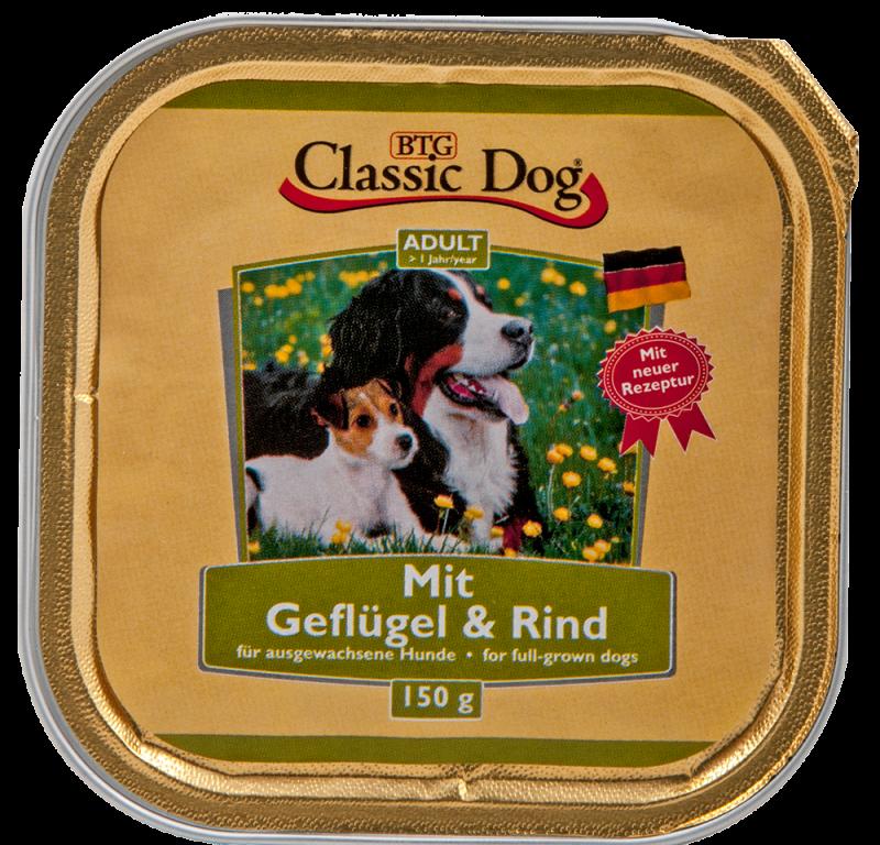 Classic Dog   Schale Geflügel & Rind