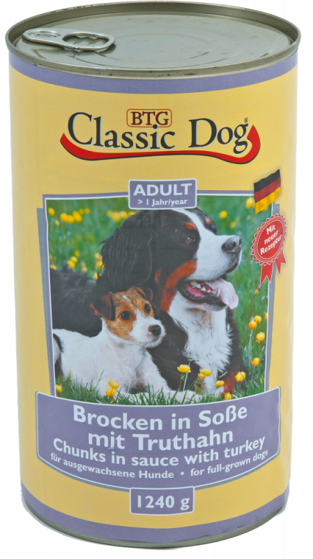 Classic Dog | Adult Brocken in Soße mit Truthahn