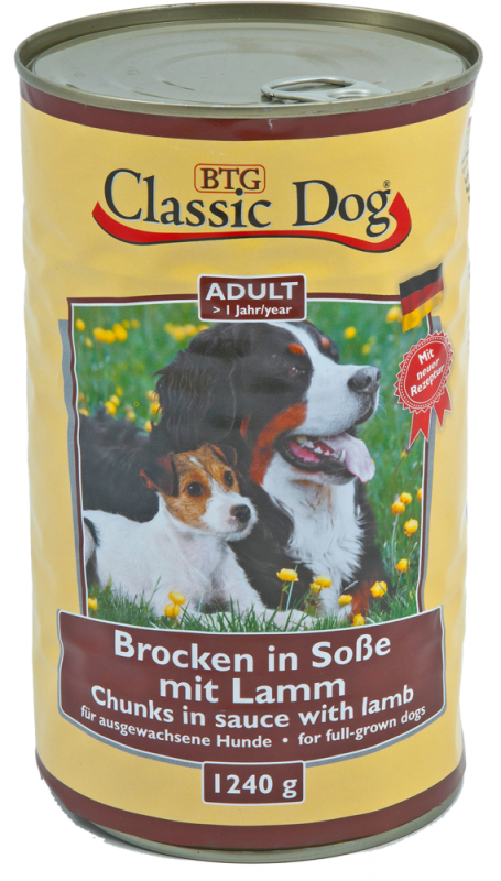 Classic Dog | Adult Brocken in Soße mit Lamm
