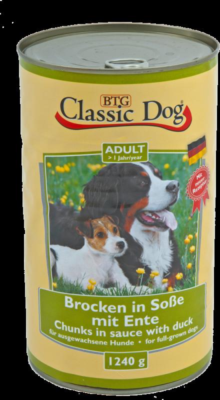 Classic Dog   Adult Brocken in Soße mit Ente