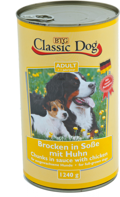 Classic Dog | Adult Brocken in Soße mit Huhn