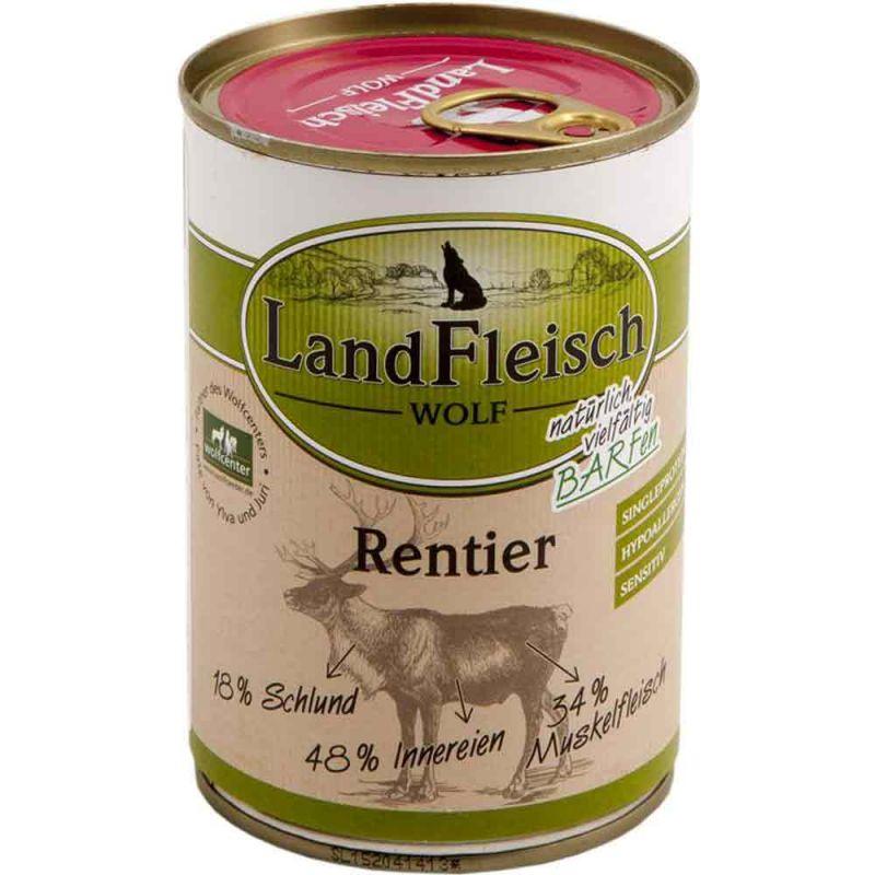 Landfleisch | Hunde Dose Wolf Sensibel 100% vom Rentier