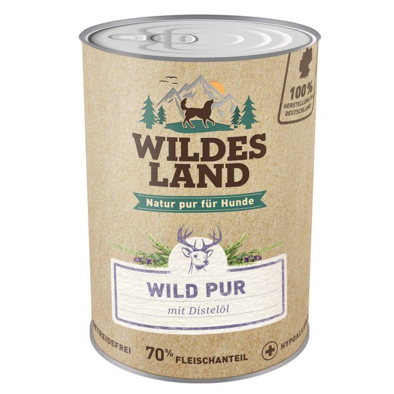 Wildes Land - Nassfutter - Wild PUR mit Distelöl 400g (getreidefrei)