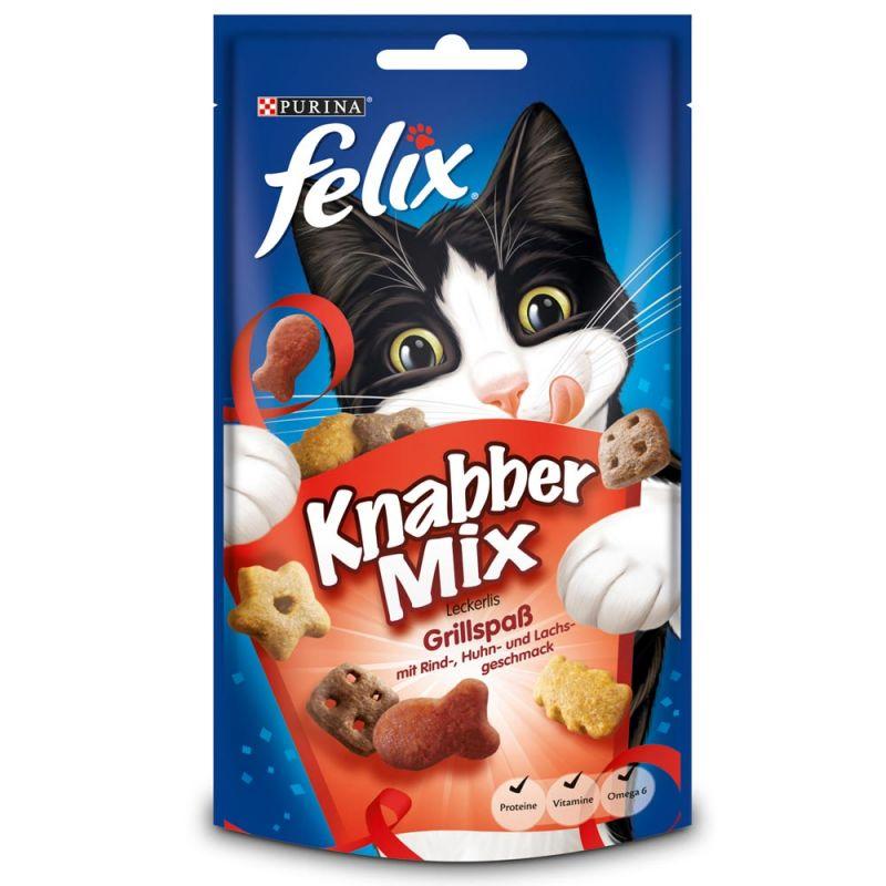 Felix | KnabberMix Grillspaß | Mix,Rind,Geflügel,Drops & Leckerli 1