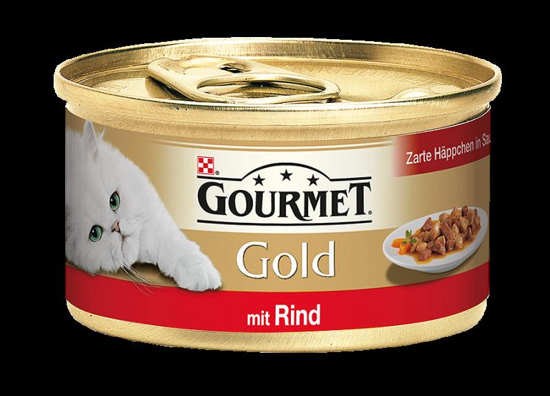 Gourmet   Gold Zarte Häppchen in Sauce mit Rind