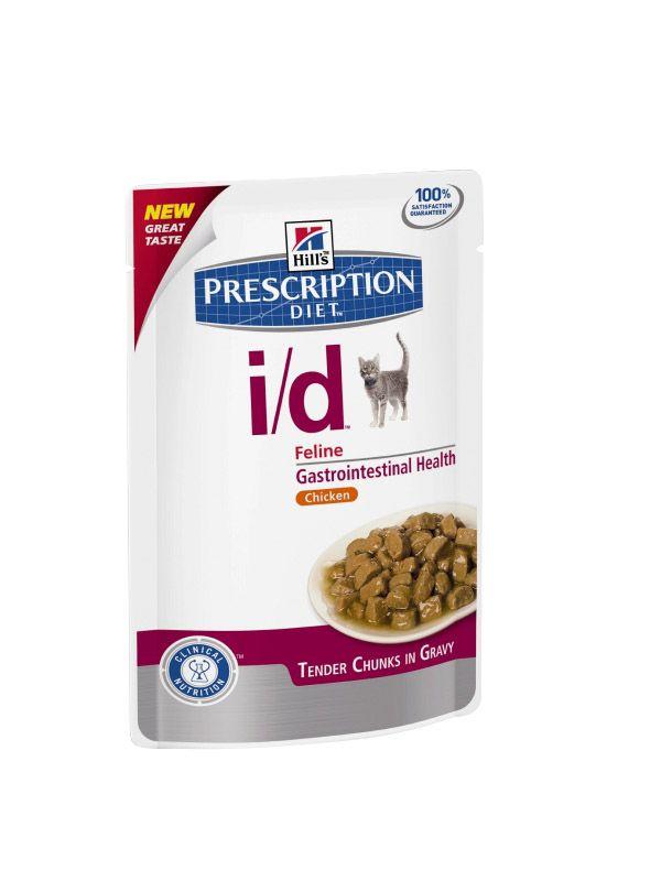 Hill's   Prescription Diet i/d Feline Zarte Stückchen in Soße mit Huhn