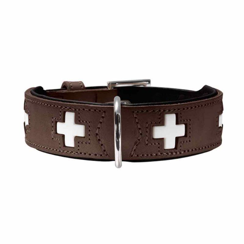 Hunter   Halsband Swiss braun/ schwarz