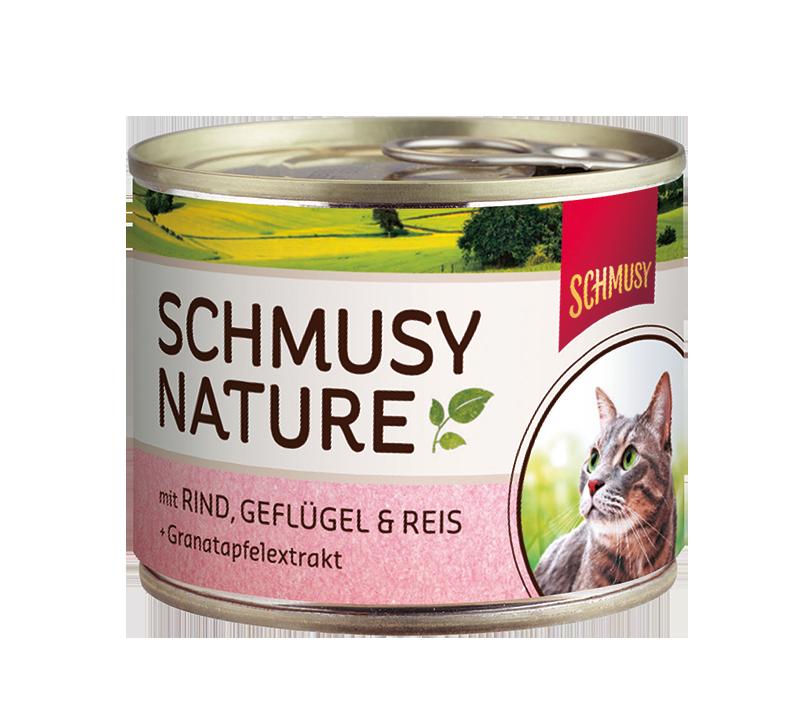Schmusy   Nature mit Rind, Geflügel & Reis