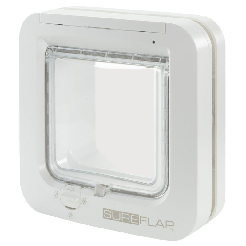 SureFlap | Mikrochip Katzenklappe Weiß