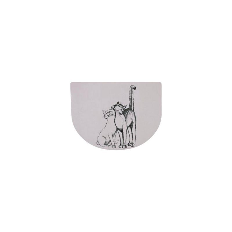Trixie | Napfunterlage Schmusekatzen, weiß