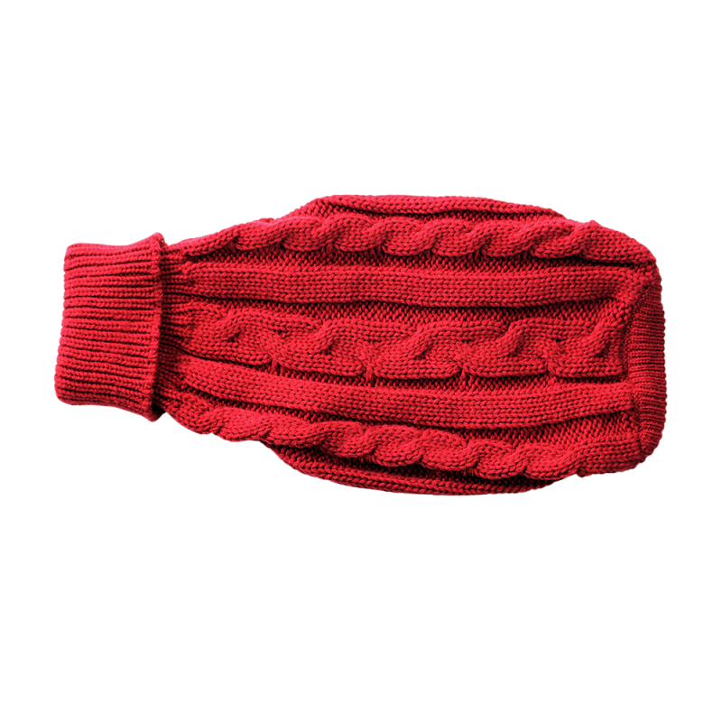 Wolters | Zopf-Strickpullover für Mops&Co in Rot
