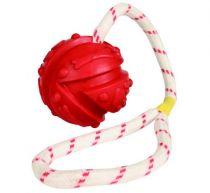 Trixie | Ball am Seil - bunt | Ø 7 cm