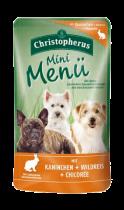 Allco | Christopherus Mini Menü mit Kaninchen & Wildreis & Chicorée