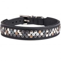 Hunter | Halsband Arizona Softleder schwarz/Nappa schwarz