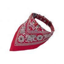 Nobby   Halsband mit Tuch rot gemustert