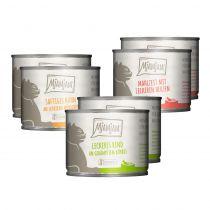Mjamjam - Nassfutter - Mixpaket leckere Mahlzeiten Huhn, Rind und Herzen 6 x 200g