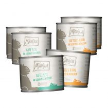 Mjamjam - Nassfutter - Mixpaket purer Fleischgenuss Pute und Huhn 6x200g (getreidefrei)