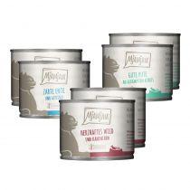 Mjamjam - Nassfutter - Mixpaket leckere Mahlzeiten Wild, Pute und Ente 6x200g (getreidefrei)
