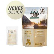 Wildes Land - Nassfutter - Ente und Pute mit Distelöl - Pouch 100g